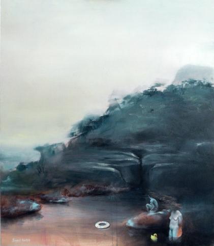 el último baño; Oil on canvas 70x60 cm; 2013